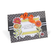 Sizzix Framelits Garden Flowers by Hero Arts Die Set with Stamps
