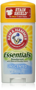 Arm and Hammer Essentials Natural Deodorant, Unscented, 4 Count