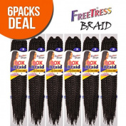 FreeTress Synthetic Hair Crochet Braid Large Box Braids 50cm