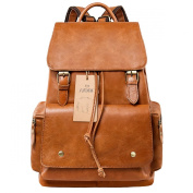 S-ZONE Vintage Genuine Leather Backpack Rucksack Travel School Bags for Women and Girls