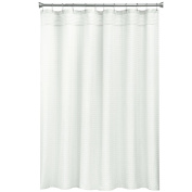 Bacova Guild Solid Mini Cheque Textured Fabric Shower Curtain