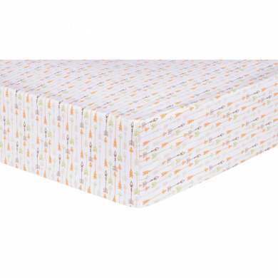 Trend Lab Deer Lodge Arrow Fitted Crib Sheet, Cream