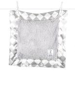 Little Giraffe Chenille Argyle Pillow, Silver