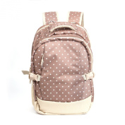 Baby Nappy Bag Travel Large Bags Backpack, Khaki Dots