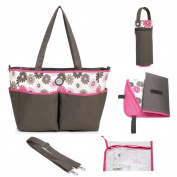 Mengma Large capacity waterproof Nylon Nappy Tote Hobos maternity Nursing baby bag Mothers sorting bag zipper closure silver