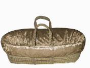 Baby Doll Bedding Crocodile Moses Basket, Olive