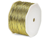 1.5mm 100 Yards Metallic Cord Gold Braided Tie Cords Trim Jewellery Cord Trim Metalized Polypropylene Coating Not Stretch