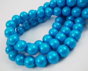 360 Glass Pearl 6mm Wholesale Bulk Finish Round Tiny Beads Dark Deep Sky Blue for Handmade Jewerly Necklace Bracelet Beading Supplies faux pearls TOP quality C46