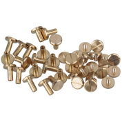 20pcs Flat Button Nail Rivet Stud Chicago Screw for Leather Wallet Craft Belt End