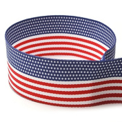2.5cm - 1cm American Flag Striped Grosgrain Ribbon - 100 Yards - USA Made -