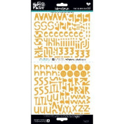 Illustrated Faith Basics Stickers 15cm x 30cm -Homespun Practise What You Peach Alpha