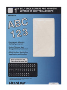 Ez Letter Stencils White Vinyl Stick-On Letters or Numbers, 2.5cm , 2 Pack