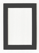 Charcoal - Dark Grey Acid Free Picture Frame Mat, 11x14 by After Five Framing