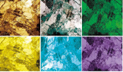 6 Artique Spectrum Stained Glass Pack