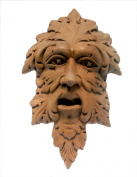 Nesha Unfinished Carved Wood Greenman Plaque Onlay
