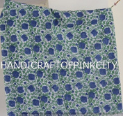 Handicraftofpinkcity By Yards Blue New Indigo Dye Hand Block Print Cotton Dabu Print Fabric Indigob Colour Ssth%2
