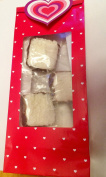 6 HEART Love Treat Bags Red Clear Window to view