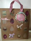 Punch Studio Easter Gift Bag kraft paper