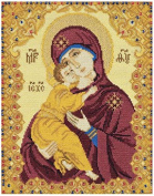 RIOLIS cross stitch kit 1300 Our Lady of Vladimir STICKPACKUNG Heiligenbild