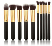 Grandey 10Pcs Professional Cosmetic Makeup Tool Brush Brushes Set Powder Eyeshadow Cosmetic Set