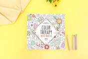 'Colour Therapy' Colouring Books for Adult Relaxation Meditation DIY Stationery Note Pads with 96 Designs - Stationery Cards for Greeting Letters Limited Edition