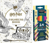Sargent Art Coloured Pencils, Set of 24, and Harry Potter Colouring Book by Scholastic