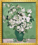 DIY PBN-paint by numbers famous painting White Rose by Van Gogh 41cm by 50cm Frameless.