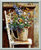DIY PBN-paint by numbers Flowers vase-13 41cm by 50cm Frameless.