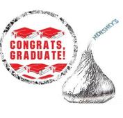216 Graduation Party Favour Hershesy Kisses Labels - Blue