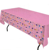 Easter Multicoloured Table Cover With Bunnies And Eggs 140cm by 180cm Pkg/12