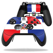 MightySkins Protective Vinyl Skin Decal for Microsoft Xbox One Elite Wireless Controller case wrap cover sticker skins Dominican Flag