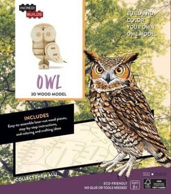 Incredibuilds: Owl 3D Wood Model (Incredibuilds)