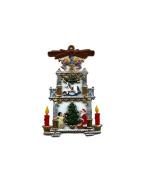 Father Christmas Festive Pyramid- German Pewter Christmas Ornament
