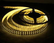 KPBOTL 240led/M 3528 Led Strip Double Row 5M 1200led Flexible Ribbon DC12V Non-waterproof Home Indoor Light Warm White