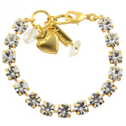 """Mariana """"On A Clear Day"""" Tennis Bracelet, Gold Plated with Clear Swarovksi Crystal, 20cm 4252 001"""