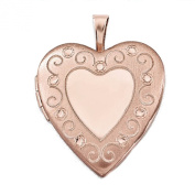 Sterling Silver Rose Gold-Plated 20mm Heart Locket