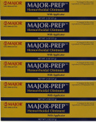 (6 PACK) MAJOR PREP HEMORRHOIDAL OINTMENT WITH APPLICATOR 60ml EACH. THE SAME ACTIVE INGREDIENTS IN PREPARATION-H & SAVE!!*