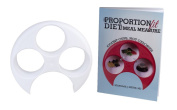 Meal Measure Portion Control Plate with The Proportion Fit Diet for MealMeasure Book