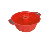 Bakeware Silicone Bundt Pan, Gela Bundt Pan For Baking, The Ideal Choice For Cakes, Bundt Cakes And More - Bundt Pan Red