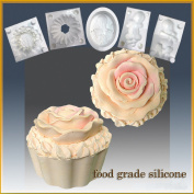 Cup Cake with Rose Icing- Silicone Soap/sugar/fondant/chocolate/marzipan 3d Mould