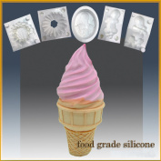 Ice Cream Cone Delight- Silicone Soap/sugar/fondant/chocolate/marzipan 3d Mould