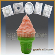Ice Cream Cone 2- Silicone Soap/sugar/fondant/chocolate/marzipan 3d Mould