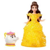 Disney Princess Glitter Glider Belle, Ariel & Aurora Dolls with their Escorts