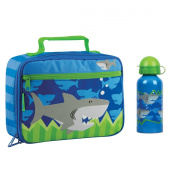 Stephen Joseph Shark Lunch Box and Stainless Steel Water Bottle for Kids