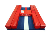 Tumbl Trak Hurdle Helper Mat, Red/Blue