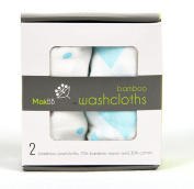 MakBB Ultra Soft Baby Washcloths, Bamboo Rayon, 2 count 20cm x 20cm