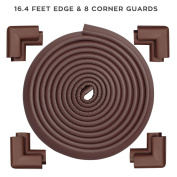 KINGLAKE Best Table Edge Guard 5m Edge And 8 Corner Guards Cushions Extra Soft High Density Protective Baby Corner Protectors Coffee