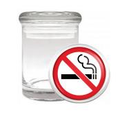 No Smoking Medical Odourless Glass Jar