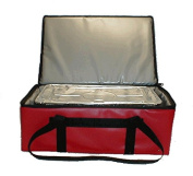 TCB Insulated Bags DST-Red Insulated Catering Bag for Full Size Steam Table Pan, 41cm x 60cm x 23cm , Red