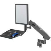 Industrial Flex 360 Monitor Mount W/ Integrated Keyboard Tray